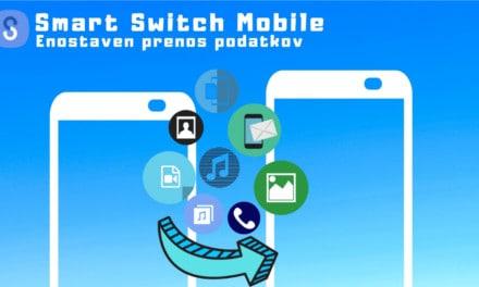 Enostaven prenos podatkov iz ene naprave na drugo s pomočjo aplikacije Smart Switch