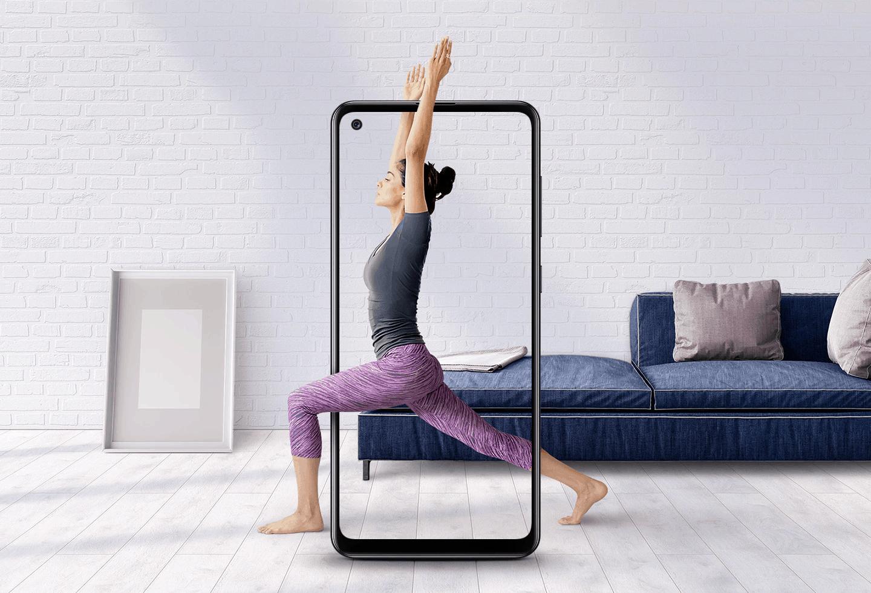 Samsung Galaxy A21s kinematografski zaslon