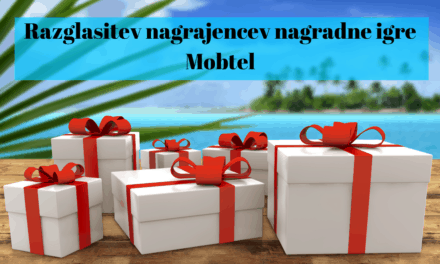 Razglasitev nagrajencev nagradne igre Mobtel