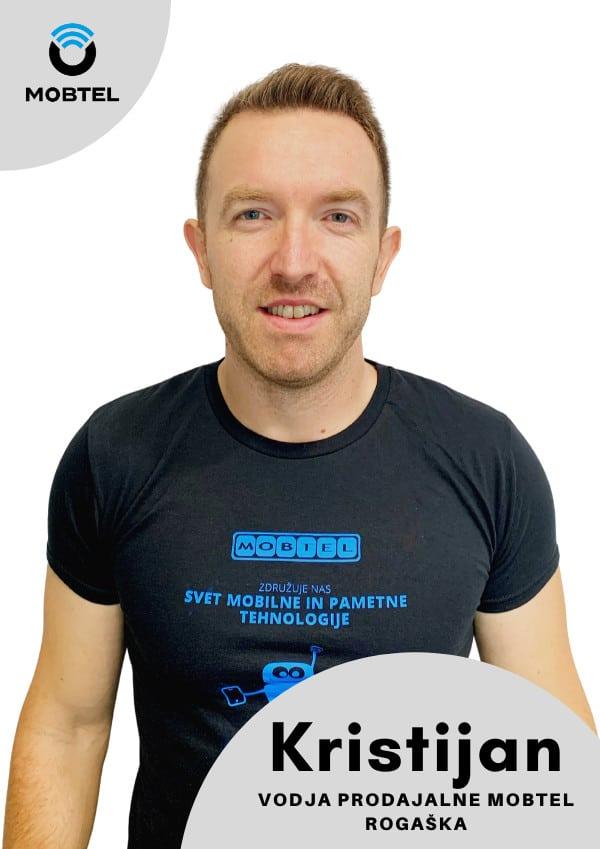 Vodja prodajalne Mobtel Kristijan