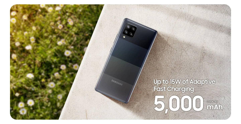 Samsung Galaxy A42 5G zmogljiva baterija s 5000 mAh in funkcijo hitrega polnjenja