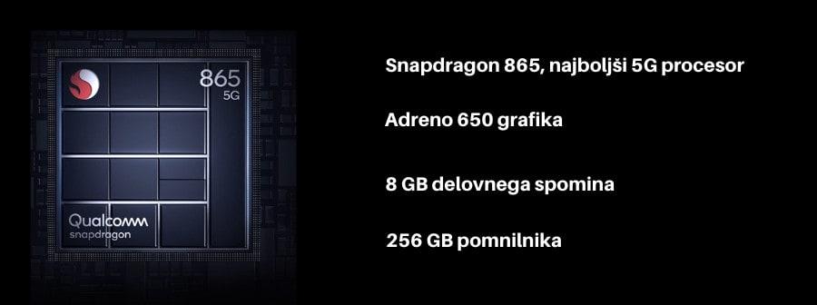 Xiaomi Mi 10T Pro 5G zmogljiv procesor Snapdragon 865, 256Gb pomnilnika