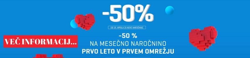 -50 % NA MESEČNO NAROČNINO