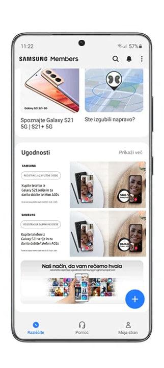 Galaxy S21 5G in za darilo dobiš Samsung Galaxy A02s