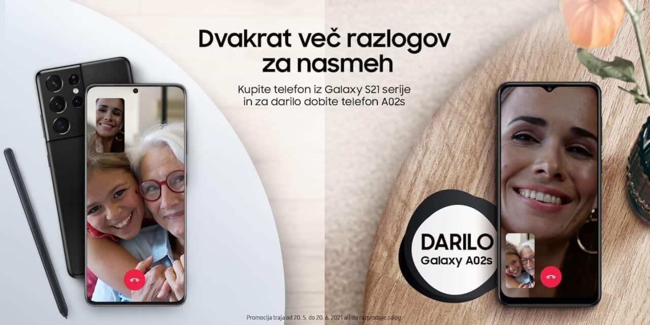 Kupite telefon iz Galaxy S21 serije in za darilo dobite telefon A02s