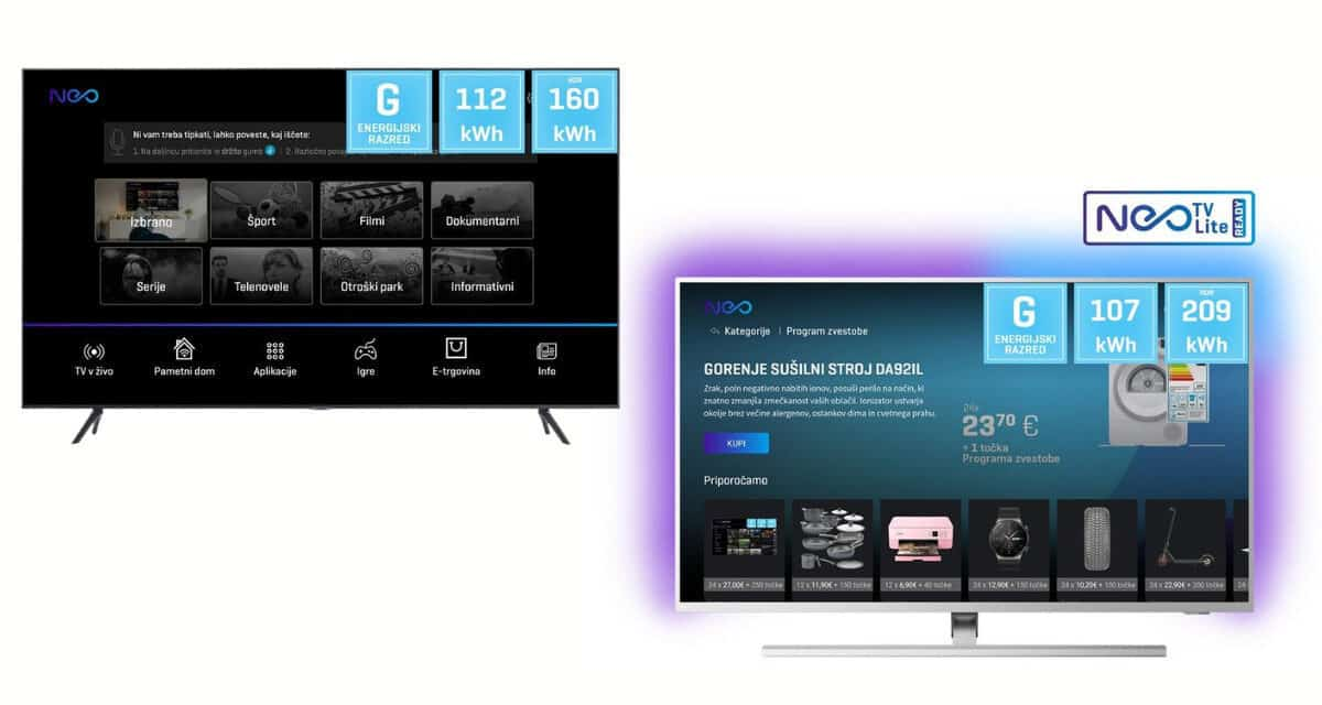 Neo televizor Philips in Samsung