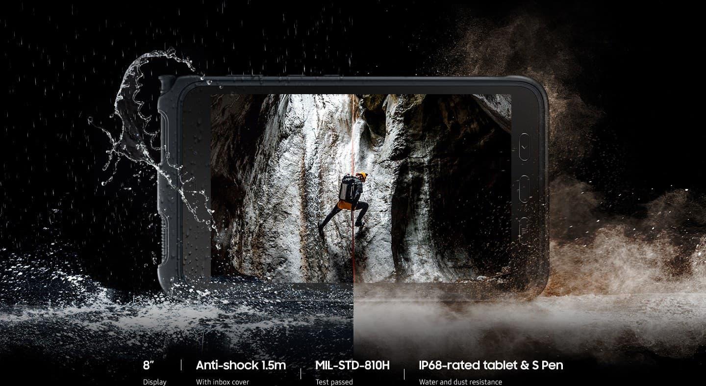 Odporen in trpežen tablični računalnik Galaxy Tab Active3 vzdrži tudi padec z višine 1,5 m