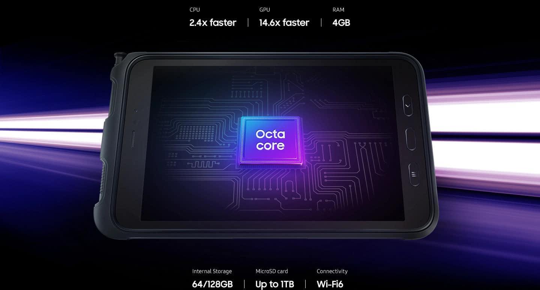 Zmogljivo delovanje in povezljivost Galaxy Tab Active3