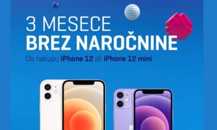 3 MESECE BREZ NAROČNINE, Ob nakupu mobitela iPhone 12 ali iPhone 12 mini