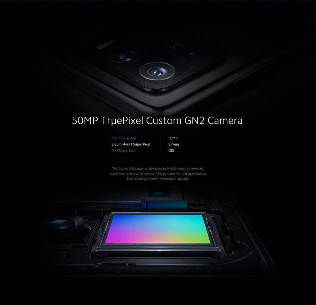 Xiaomi Mi 11 Ultra zadnja trojna kamera (glavna (50 MP), ultra širokokotna (48 MP), telefoto (48 MP))