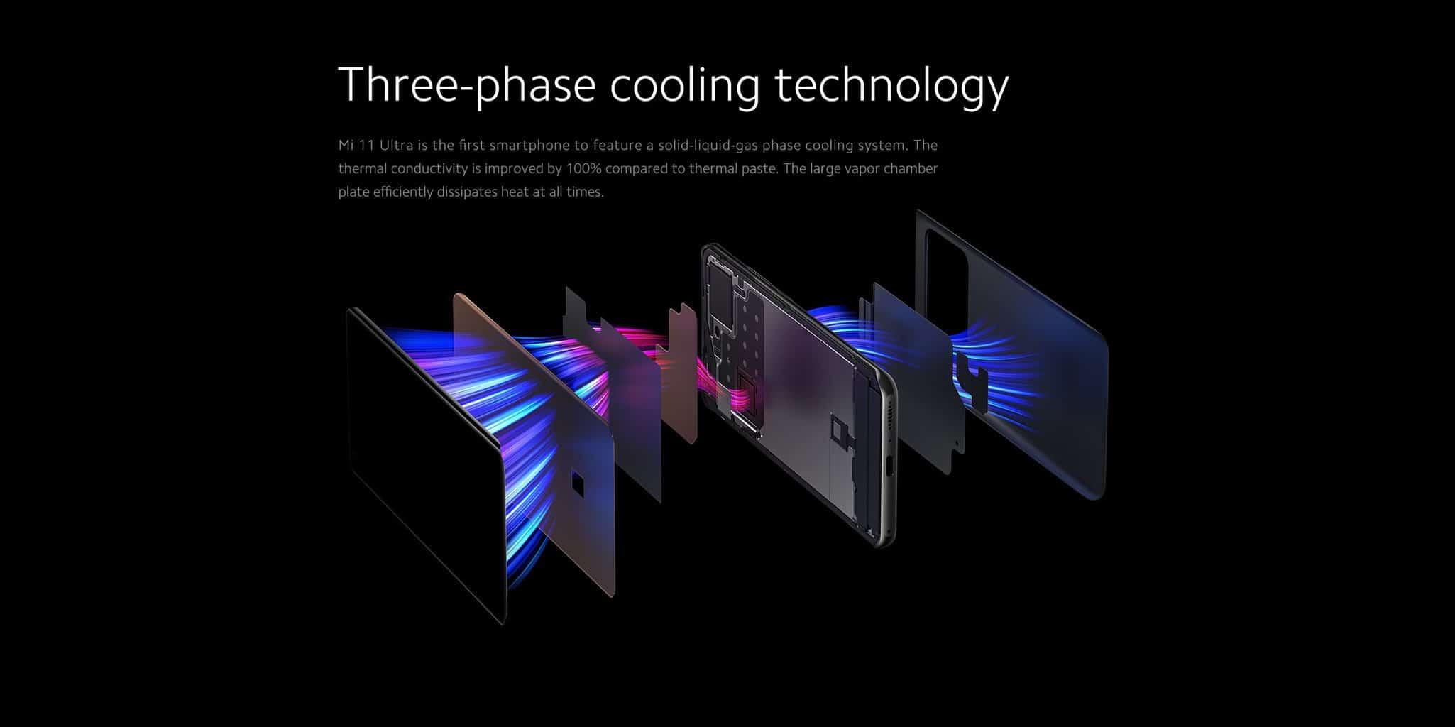 Xiaomi Mi 11 Ultra tri fazna hladilna tehnologija