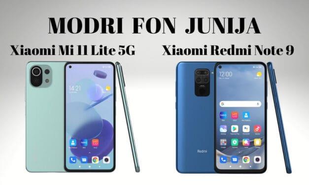 Modri Fon junija – 2 Xiaomi telefona
