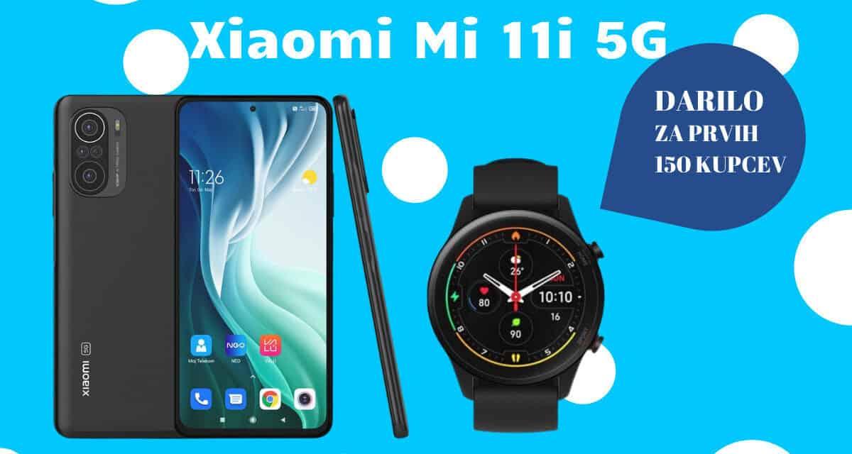 Kupi Xiaomi Mi 11i 5G in za darilo prejmi pametno uro Mi Watch