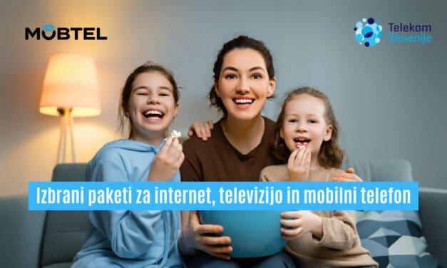 Izbrani paketi za internet, televizijo in mobilni telefon