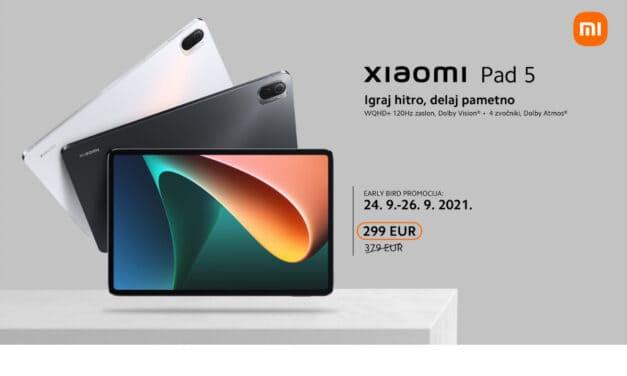 Tablica Xiaomi Pad 5 – Nora predprodajna ponudba: 299€