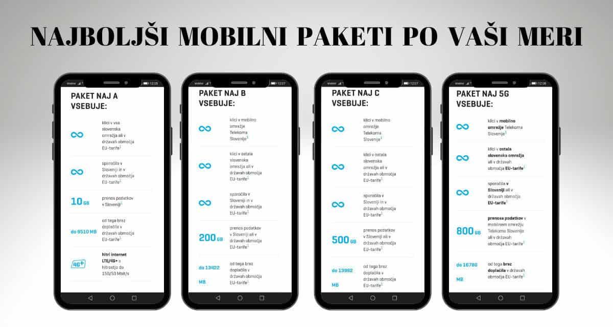 Mobilni paketi pri Telekomu slovenije – paketi NAj…